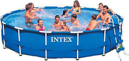 Большой каркасный бассейн Intex 56942 Metal Frame Pool 457*91 см
