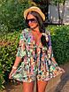 Комбинезон шортами с цветочным принтом, фото 3