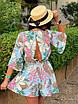 Комбинезон шортами с цветочным принтом, фото 9