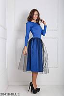 Нарядное платье с рукавом три четверти и фатином на юбке Lashes