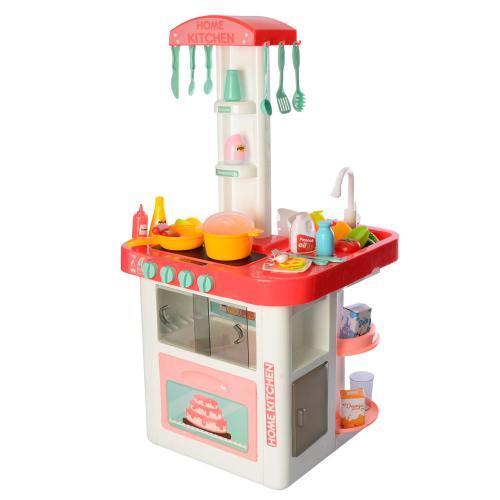Детская игровая кухня 889-59, с крана льется вода. Световые и звуковые эффекты. 2 цвета
