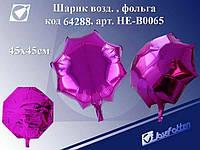 """Шарик возд.фольга """"Цветок"""", цв.ассорти, 45х45см /0 /0 /3000"""
