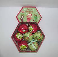 """Набор елочных шаров мат.+глянц.""""Merry Christmas"""" 75MM 14PCS"""