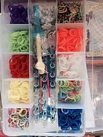 Уценка! Резинки для плетения браслетов Rainbow Loom bands 3000 шт. с оригинальным станком