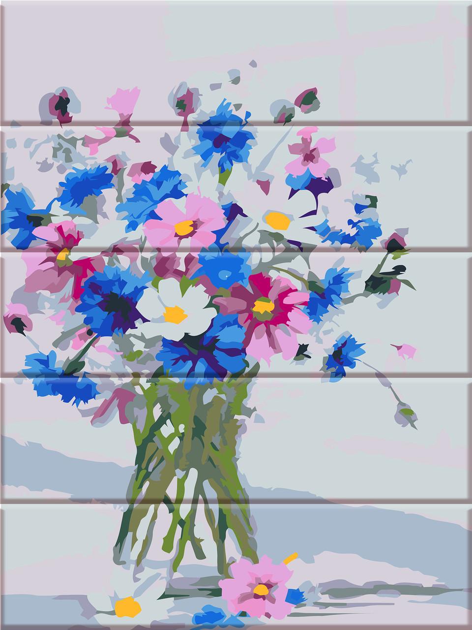 Картины по номерам на дереве Цветы из сада ArtStory ASW046 30 х 40 см