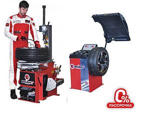 Комплект шиномонтажного оборудования Bright CB910GBS и Bright  LC810