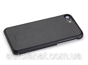Оригинальный кожаный чехол Volkswagen Logo iPhone 7 Cover, Black (33D051708)
