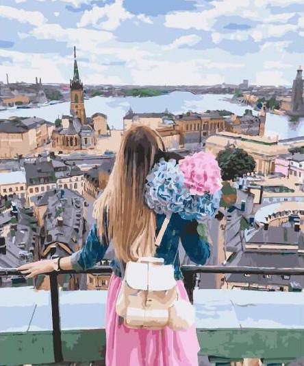 Картина по номерам Взгляд на город