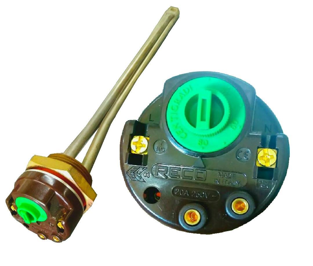 ТЭН мощностью 0,8 квт для чугунного радиатора(батареи) с регулятором
