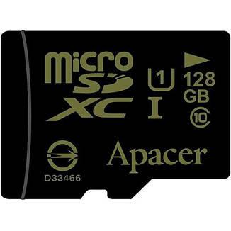 Карта пам'яті Apacer microSDHC 128GB UHS-I Class 10 + SD adapter (AP128GMCSX10U1-R), фото 2