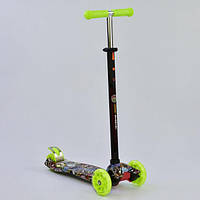 "Самокат А 25470 /779-1325 MAXI ""Best Scooter"" Black/Lime Green"