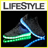 Кроссовки Yeezy Boost с Лед подсветкой (36-41 размер) Топ продаж!