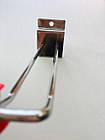 Крючки подвійні 200мм хромовані б/у для економпанелей квадрат, фото 2