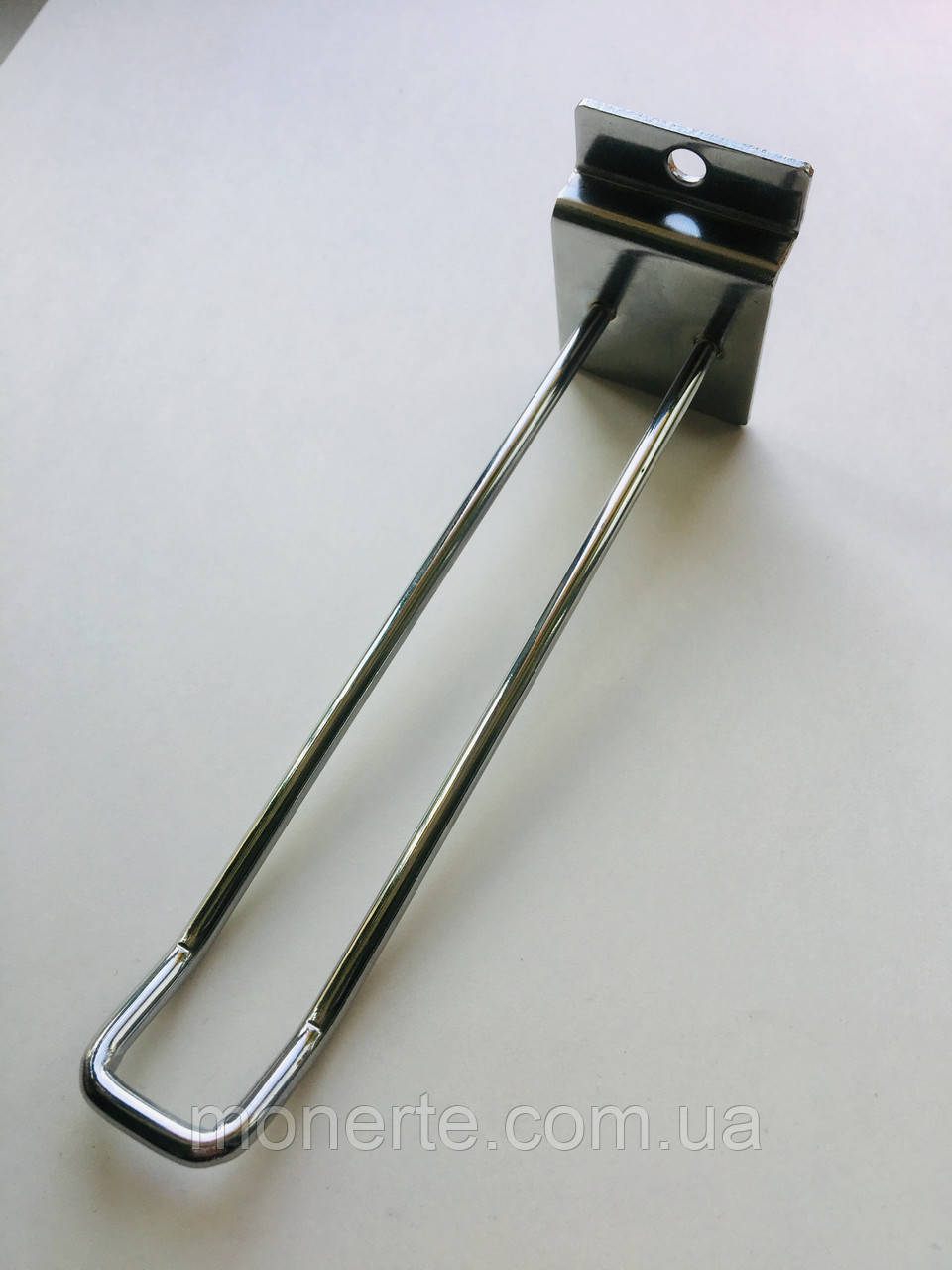 Крючки подвійні 200мм хромовані б/у для економпанелей квадрат