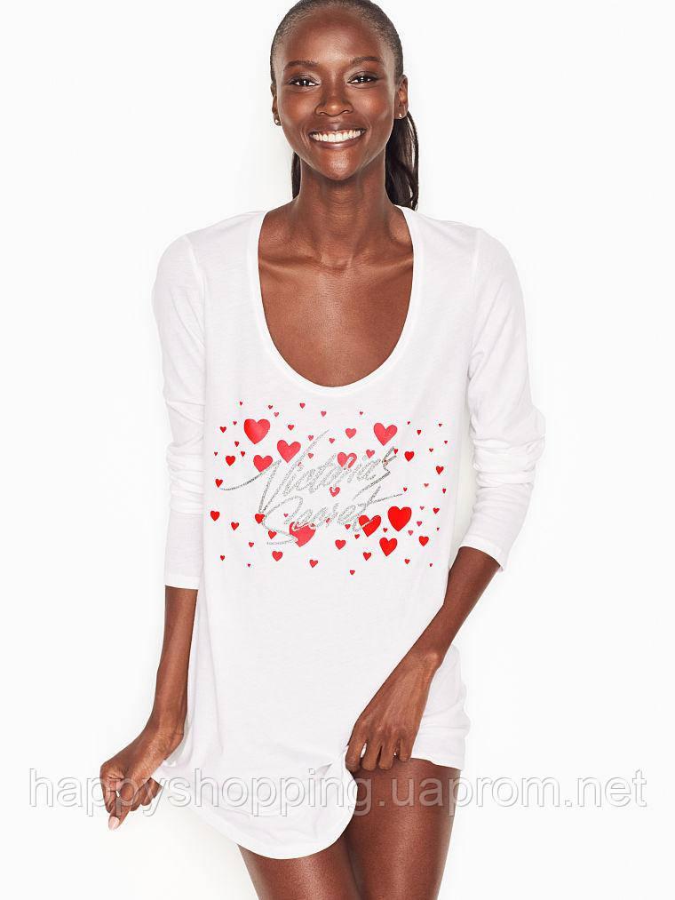 Женская оригинальная  белая ночная рубашка Victoria's Secret