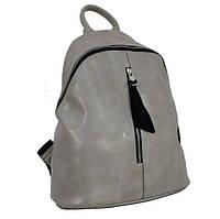 Женский рюкзак серого цвета, фото 1