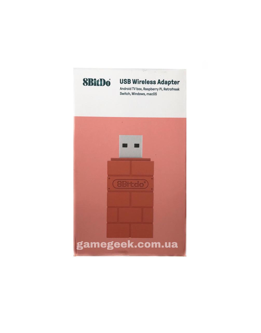 8BitDo Беспроводной адаптер Bluetooth для Nintendo Switch, Windows, Mac, Android TV box, PS и Raspberry Pi