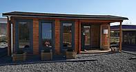 Дом деревянный из профилированного бруса 4х7. Кредитование строительства деревянных домов