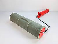Валик структурный резиновый d60х250мм (размер кирпича на стене 210х70мм)
