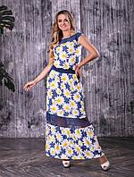 Стильное Платье  размеры 46-54 код 1947-2