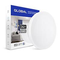 Светильник GLOBAL LED 24W 4100K настенно-потолочный круглый