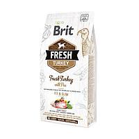 Brit FreshTurkey&Pea Light Fit&Slim Adult 12кг