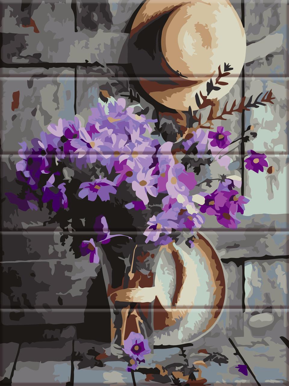 Картины по номерам на дереве Деревенский букет ArtStory ASW049 30 х 40 см