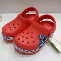 Детские сабо Crocs Crocband America красные