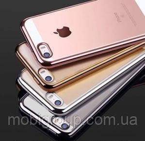 Чехол силиконовый с бампером под металик iPhone SE/5S/5