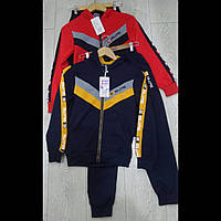 Детские спортивные трикотажные костюмы для мальчиков оптом GRACE  116---146см.