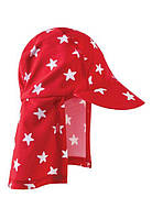Кепка Frugi  Swim Legionnaires, красная ,звезды