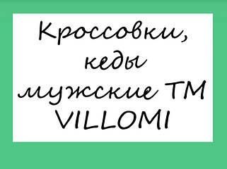 Кроссовки, кеды мужские ТМ VILLOMI