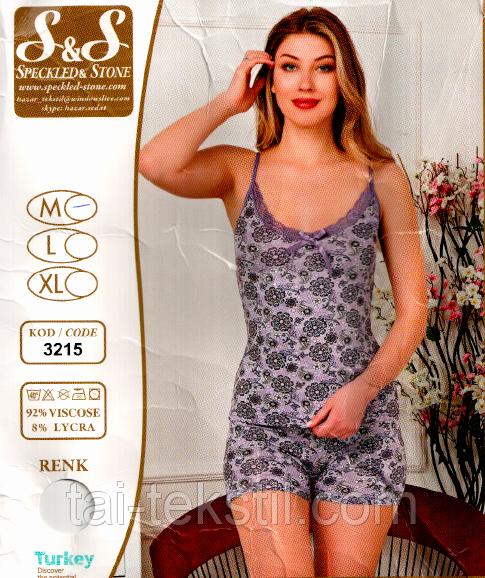 Вискозный комплект майка с шортами HAZAR №3215-6