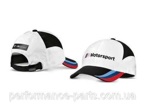 Бейсболка BMW Motorsport Fan Cap, Unisex, White/Black 80162463073