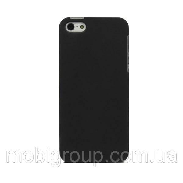 Чехол силиконовый матовый для iPhone SE/5S/5, черный