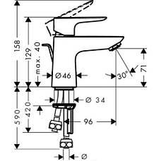 Talis E Смеситель для раковины, однорычажный, фото 2