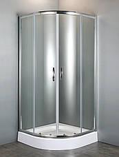 FIESTA душевая кабина 90*90*200 см на мелком поддоне, профиль хром, стекло прозрачное, фото 3