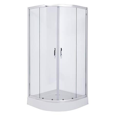 FIESTA душевая кабина 90*90*185 см (стекла+двери), хром, прозрачное, фото 2