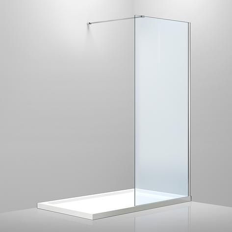 Стенка 1200*2000 мм, каленое прозрачное стекло 8мм, фото 2