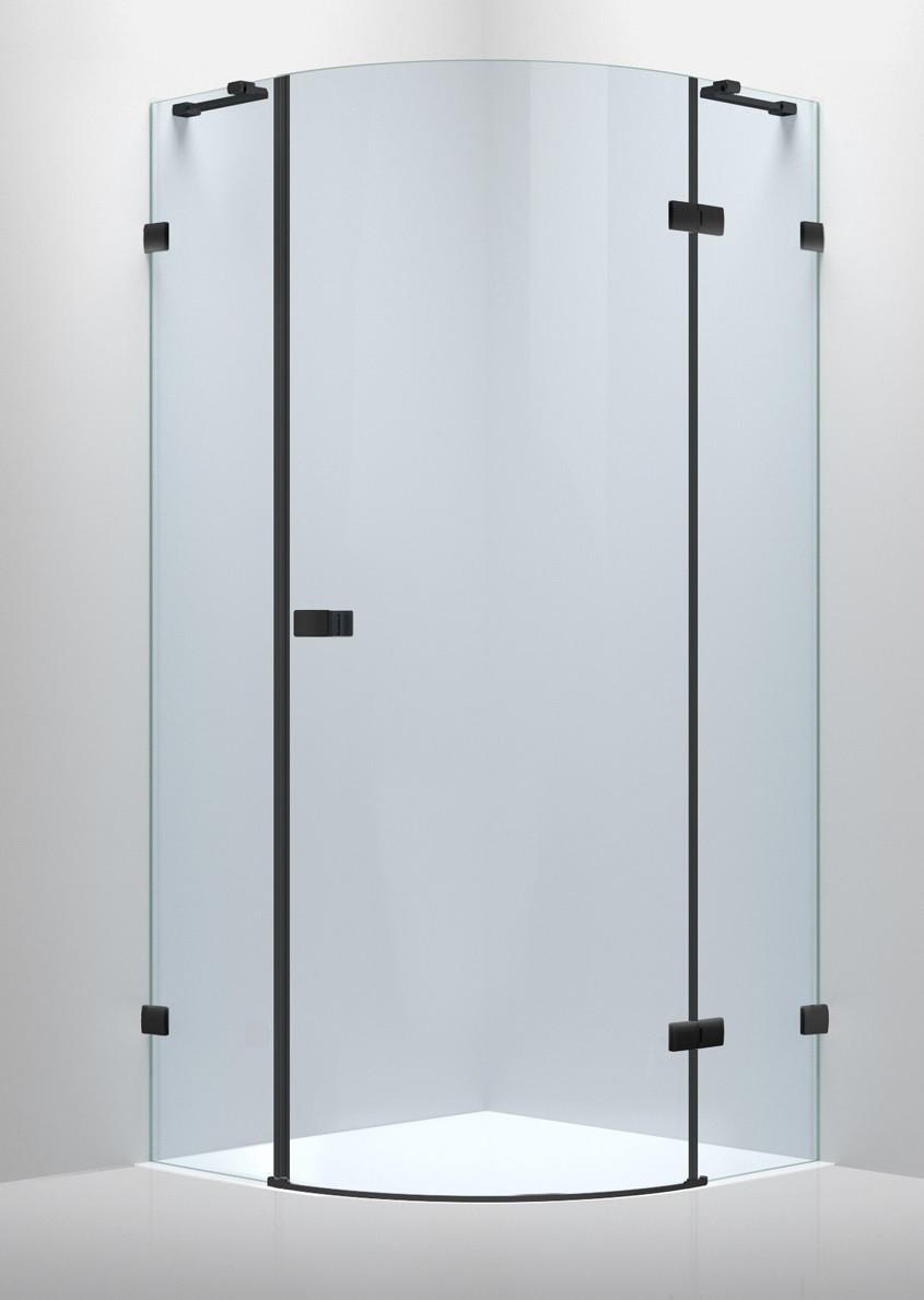 De la Noche Душевая кабина угловая 900*900*2000мм (стекла+двери), правая,распашная, стекло прозрачное 8мм с Nano покрытием