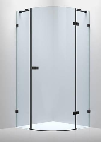 De la Noche Душевая кабина угловая 900*900*2000мм (стекла+двери), правая,распашная, стекло прозрачное 8мм с Nano покрытием, фото 2