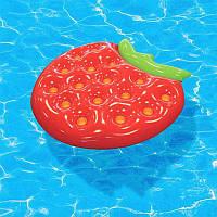Надувной матрас Клубника Strawberry 140х140 см м (в ящике 30 шт).