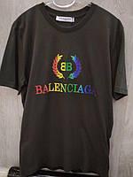 Футболка мужская Balenciaga, цвета хаки размер XXL