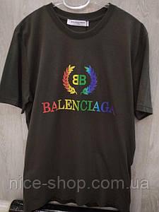 Футболка мужская Balenciaga, цвета хаки