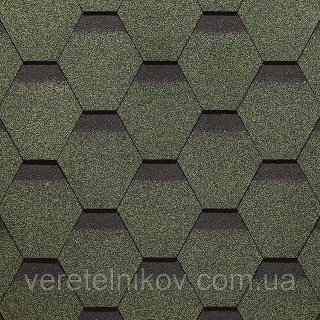 Битумная черепица Roofmast (Руфмаст) зеленая