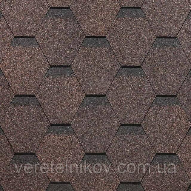 Битумная черепица Roofmast (Руфмаст) коричневая