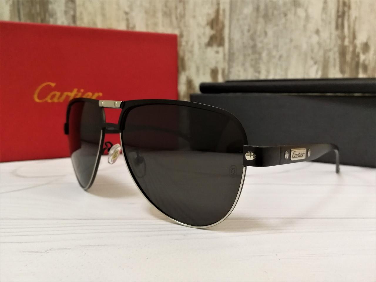 Очки мужские солнцезащитные Cartier (окуляри чоловічі сонцезахисні).