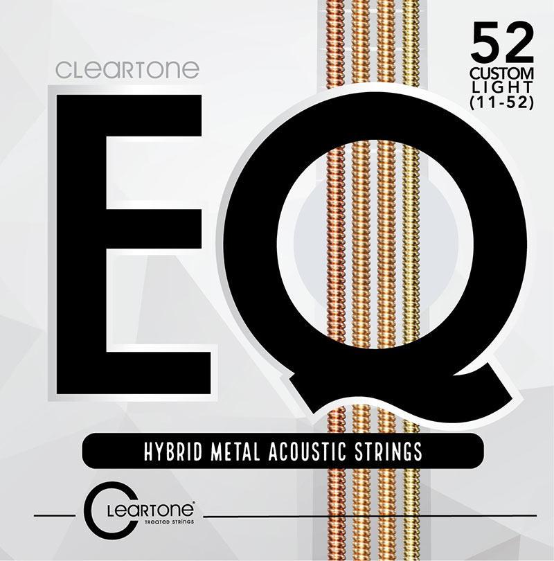 Струны для акустической гитары CLEARTONE 7811 EQ HYBRID METAL ACOUSTIC CUSTOM LIGHT 11-52