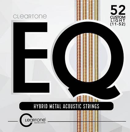 Струны для акустической гитары CLEARTONE 7811 EQ HYBRID METAL ACOUSTIC CUSTOM LIGHT 11-52, фото 2