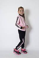 Стильний спортивний костюм дівчинці 6-11 років, трикотаж тринитка